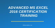 Advanced MS Excel 2016 Certification Training