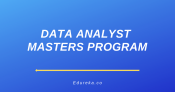 Data Analyst Masters Program