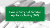30% off How to carry out PAT testing