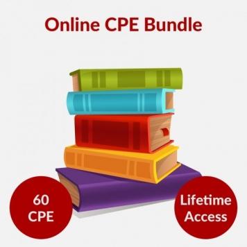 60 CPE Online Course Bundle - $147 - Renew Your Certification Now!