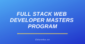Full Stack Web Developer Masters Program